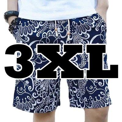 44.Eネイビーボタニカル_3XL