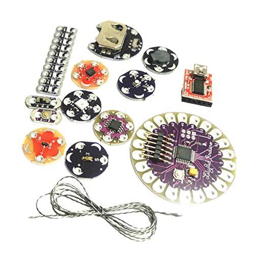 H HILABEE Lilypad ArduinoキットウェアラブルLedスイートATmega328P FT232RLボードブザー温度