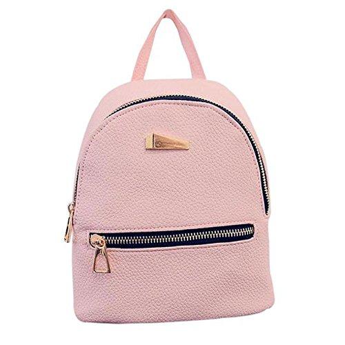 Daypack Travel Handbag Leather Rucksack Bag Women Backpack Rcool School Shoulder Pu Fashion Pink Bags XFqn4qYwUz