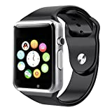 Aosmart Bluetooth Touch Screen Smart Wrist Watch Phone with Camera - Black