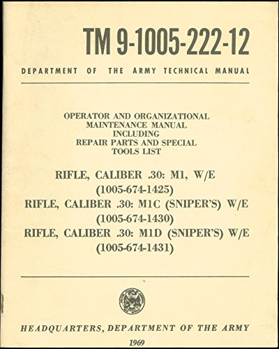 (TM 9-1005-222-12: RIFLE, CALIBER .30: M1, M1C, and M1D W/E ; Operator and Organizational Maintenance Manual Including Repair Parts and Special Tools List. Department of The Army Technical Manual. March 1969.)