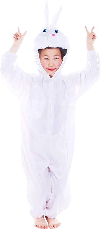 Lovelegis (Talla XXXL) Disfraz de Conejo Blanco para niño y niña ...