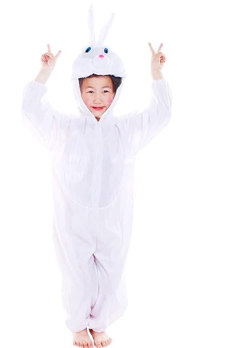 Lovelegis (Talla XXXL) Disfraz de Conejo Blanco - 8 - 9 años ...