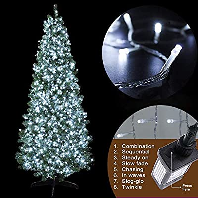 MYGOTO LED String Lights, 165FT 500LED 30V Plug in Waterproof String Lights with 8 Modes for Indoor and Outdoor Party Wedding Home Patio Lawn Garden Supplies (Cool White) : Garden & Outdoor