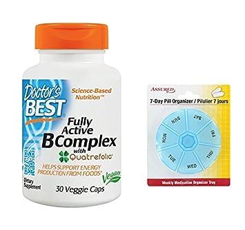 El médico mejor activo complejo B suplemento alimenticio, cuenta 30 con gratis 7 días plástico