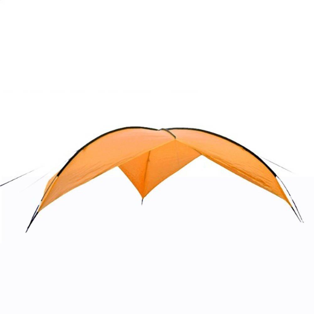 cldbhbrkアウトドアキャンプオーニング窓Large Tarpaulinパーゴラ、キャノピーSandyビーチ紫外線対策折りたたみテントポータブル480480200 CM オレンジ 773-504  オレンジ B07G18W2TH