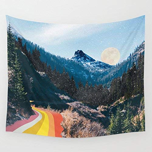 wenhuamucai 1960's Style Mountain Collage Wall Tapestry Small: 51