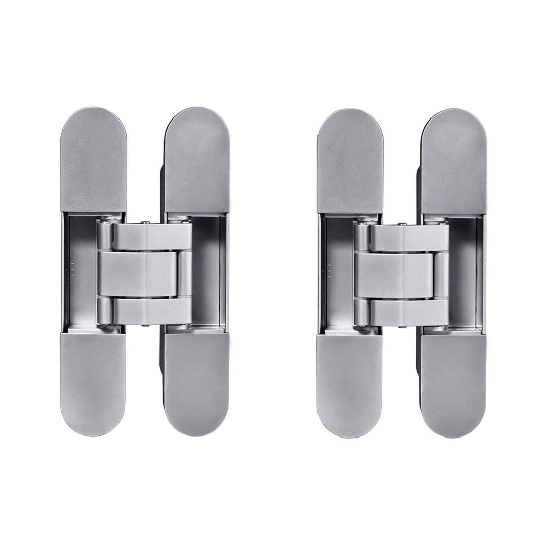 TamBee Invisible Hinge Heavy Duty Zinc Alloy Concealed Hidden 180 Degree Swing Hinge 3 Way Adjustable Butt Hinge 6 x 2.5 x 1 inch (2 Hinge)