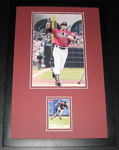 Carlos Beltran Autographed Photo Framed 11x17 Display 2004