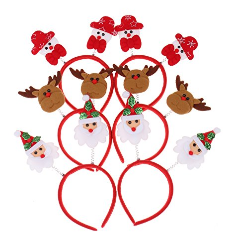 RufNTop Merry Christmas X-mas Santa Rudolph Snowman Headband for Boys and Girls Costume Accessory for Party or Celebrations(MIX pack of - Glass Write Name On Online