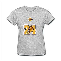 Amazon.com  USTJC Women s Kobe Bryant No.24 Los Angeles Lakers T ... 6113c719c1