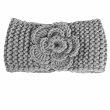 Baby Warm Knit Headbands, ML_Victor Baby Infant Toddler Turban Flower Knitted Head Wrap Headbands Girl Knitting Wool Hairbands