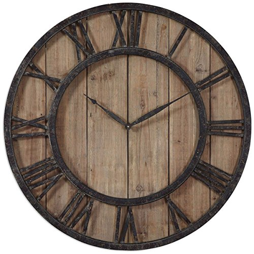 Uttermost 06344 Powell Wooden Wall Clock (Cohen Furniture Collection)