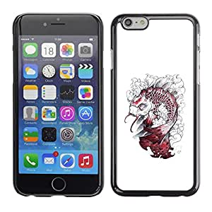 For Apple (5.5 inches!!!) iPhone 6 Plus, S-type® Kraken White Fish Monster - Arte & diseño plástico duro Fundas Cover Cubre Hard Case Cover