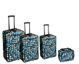 Rockland Luggage Dots 4 Piece Luggage Set