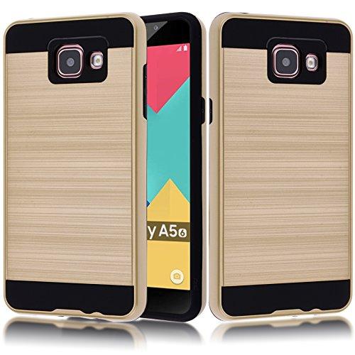 Tough Hybrid Dual Layer Case for Samsung Galaxy A510 A5 2016 (Gold) - 2