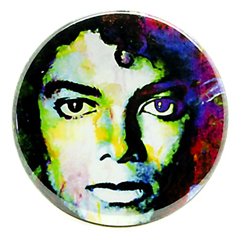 Michael Jackson Pin - Pinback Button by Mark Lewis Art - mjs1 - signed ()