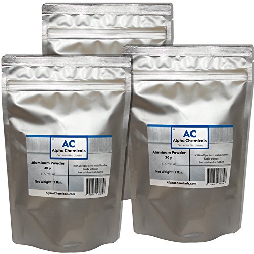 6 Pounds - Aluminum - 30 micron by Alpha Chemicals