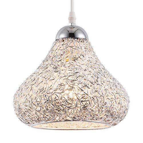 Smellbt Modern Mini Pendant Light with Hand Crafted Metal Dome Shape, Adjustable Indoor Decorative Fixture Ceiling Pendant Lighting for Hanging Above Dinning Kitchen Island Room Cafe Shop