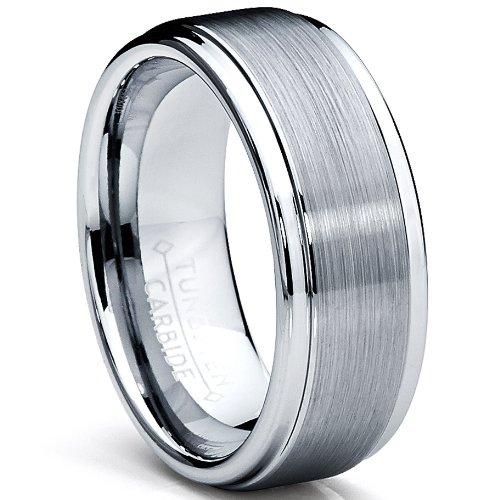Ultimate Metals Co. 8MM Bague De Mariage Tungstene poli / Mat Pour Home