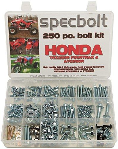 (Specbolt Fasteners Brand 250pc Maintenance Restoration OE Spec Motorcycle Bolt Kit for Honda TRX250R Fourtrax ATC250R Quad 3 wheelers TRX ATC 250R)