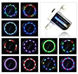 AIKELIDA Bike Wheel Lights - Waterproof Ultra Bright 14 LED Bicycle Wheel Spoke Decorations Light - 30 Different Patterns Change - Colorful Bicycle Tire Accessories - Easy to Install