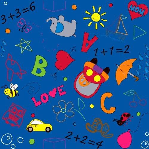 Kid Carpet FE739-26Y Playtime Doodle Nylon Area Rug 6' x 6' Multicolored [並行輸入品]   B07HLFZ7XR