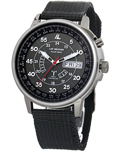 [LAD WEATHER] Solar powered Automatic time correction Radio wave Perpetual calender Watch for Men