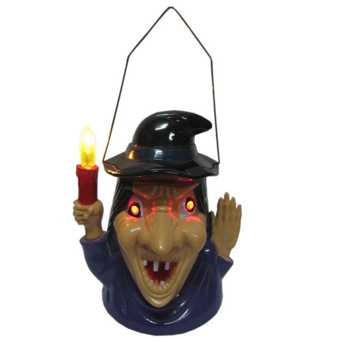 Rosennie Halloween Witch Hanging Light,Halloween Decorations Cosplay Costume Props Party Witch Hanging Light Lamp Eye Flashing Terror Sound Halloween Party Decor (Witch Hanging Light) Seasonal Decoration