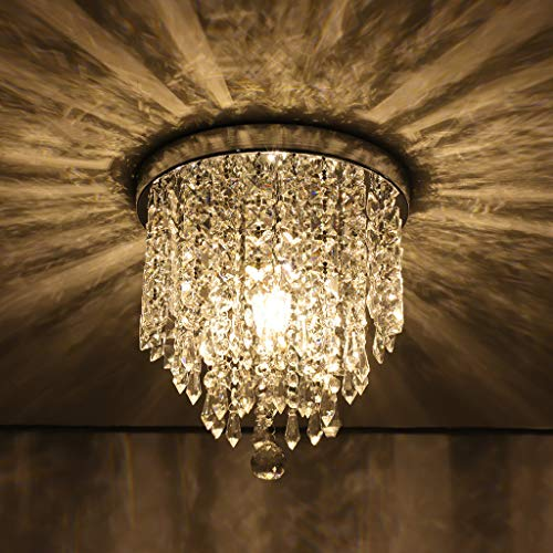 (Dirance Modern Crystal Ball Chandelier - Luxury Ceiling Light Crystal Aisle Lights Entrance Lights Corridor Lights - H9.84X W8.66inch)