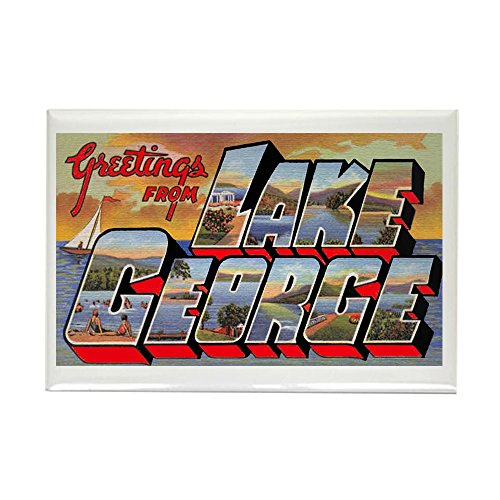 CafePress Lake George Greetings Rectangle Magnet, 2
