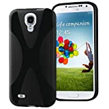 Vakoo Slim Fit TPU Bumper with Crystal Clear Back Panel Case for Samsung Galaxy S4 - Black