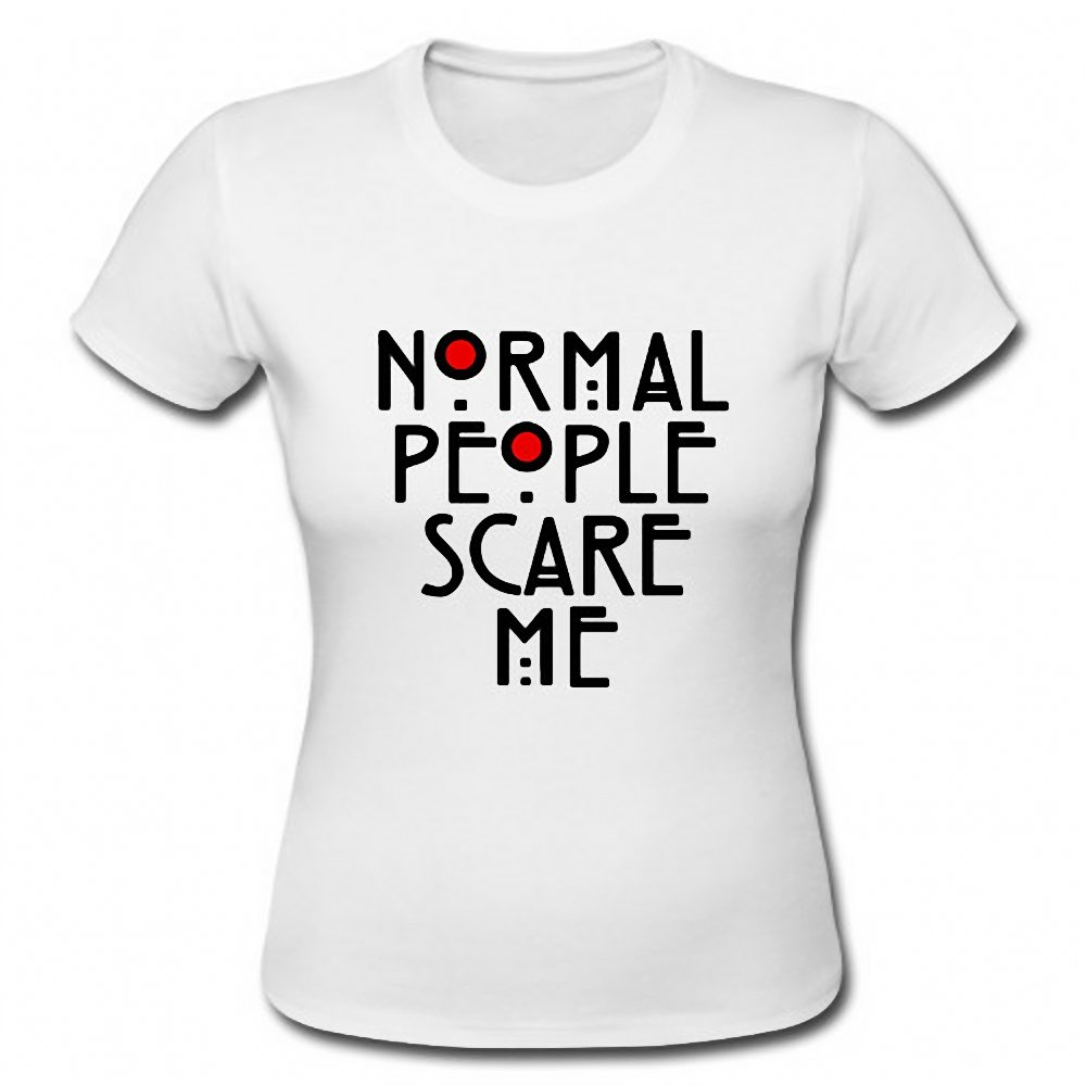 Normal People Scare Me Funny Horror Geek Ladies Short Sleeve T-Shirt Tee