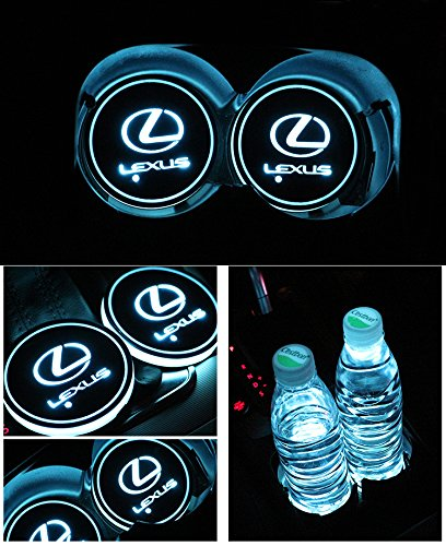 Car Logo Led Cup Pad Led Cup Coaster Usb Charging Mat Luminescent Cup Pad Led Mat Interior Atmosphere Lamp Decoration Light  Lexus