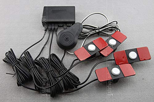 Amazon.com: Black : Car Parking Sensor System Parking Detector Reversing Radar with 13mm Flat Original Small 4 Sensors with Buzzer: Car Electronics