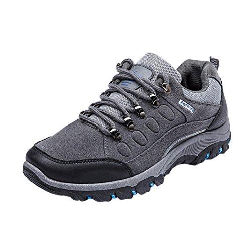 Sky Zapatillas de Deporte Al Aire Libre de Los Hombres Ocasionales Impermeables Anti-Skidding Que VA de Excursión Los Zapatos de Los Deportes (39, Gris)