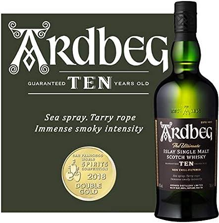 Ardbeg Whisky 10 Años - 700 ml