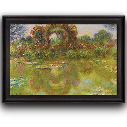 Lily Pond The Roses (Bassin Aux Nymphéas Les Rosiers) by Claude Monet Framed Art