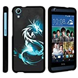 HTC 626 Case, Slim Fit Snap On Cover with Unique, Customized Design for HTC Desire 626 from MINITURTLE | Includes Clear Screen Protector and Stylus Pen - White Dragon
