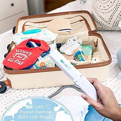 Portable UV Light Sterilizer Bag USB Sanitizer Disinfection Box Cleaning Tool for Travel Outdoor Household Mobile Phone//Baby Bottle////Makeup Tool Detazhi
