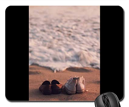 a3aafe1843ad6 Amazon.com : Mouse Pads - Shoes Sneakers Converse Beach Sand Waves ...