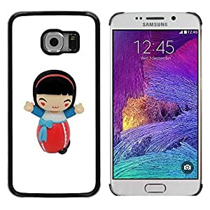 Paccase / SLIM PC / Aliminium Casa Carcasa Funda Case Cover - Cartoon Girl Character Figurine - Samsung Galaxy S6 EDGE SM-G925