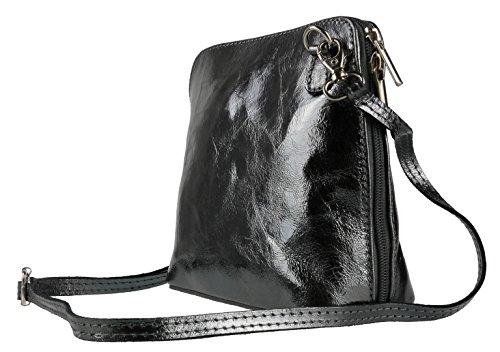 de Handbags Bolso Pewter para Piel Metallic mujer Girly cruzados watf1TxT