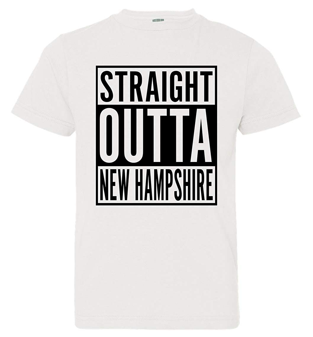 Tenacitee Boys Youth Straight Outta New Hampshire T-Shirt