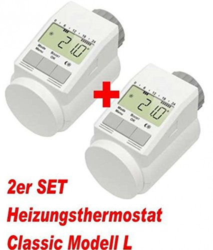 2er Set - Heizkörper-Thermostat Classic