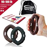Hand Strengthener Grip Rings 30-100LB – Multiple Resistance Levels & Colors Available – Comfortable To Use Oval Shaped Ergonomic Design – For Men & Women of All Ages Review