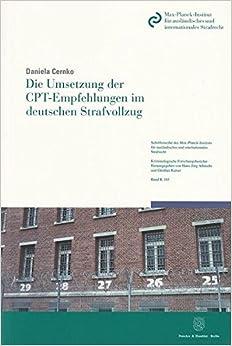 Book Die Umsetzung der CPT-Empfehlungen im deutschen Strafvollzug