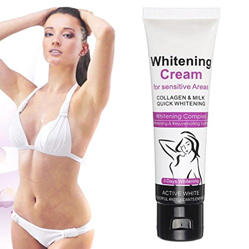 ❤JPJ(TM)❤️_Hot sale Whitening Cream Body Between Legs Knees Private Parts Whitening Intimate,Go down to melanin, deodorant, antiperspirant, odor, astringent, whitening ski (White)