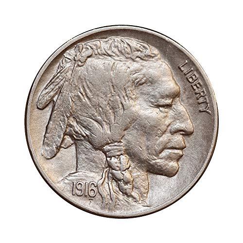 1916 P Buffalo Nickel - Gem BU/MS/UNC - Superb/High Grade Coin