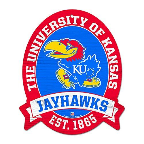 FGCSports 11X13 Kansas Jayhawks Wood Street Sign